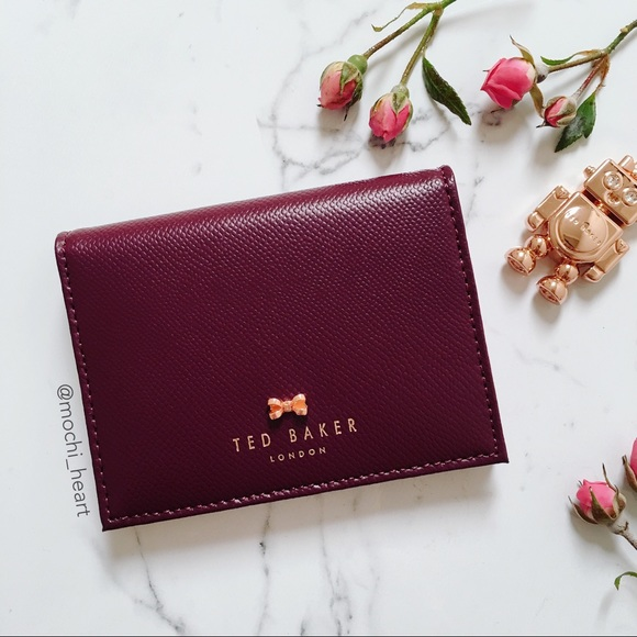 cheap for discount a0b73 f2972 Ted Baker Oxblood Leather Card Case & Keychain NWT